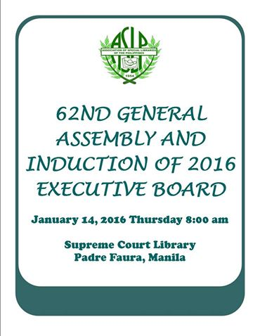 2016 General Assembly poster